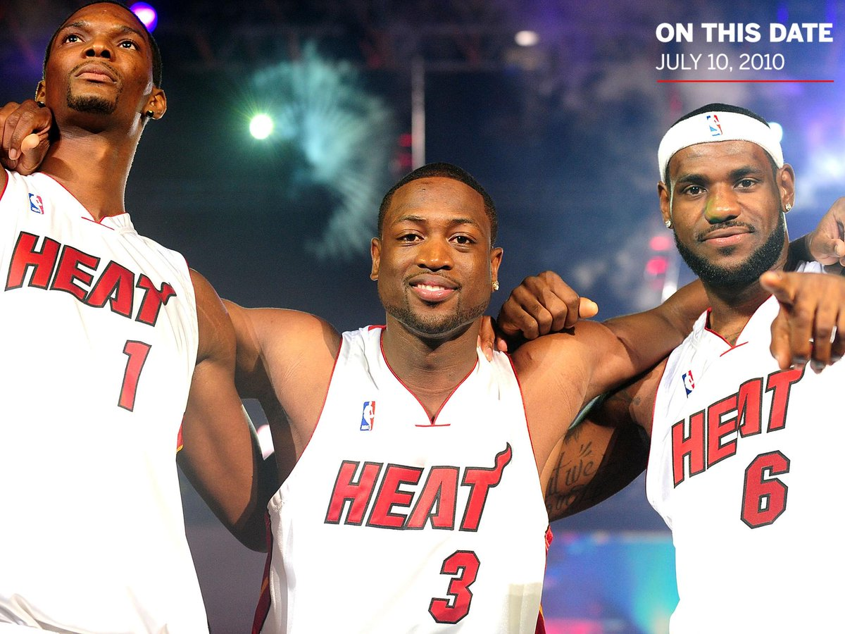 Nine years ago today, LeBron, Wade and Bosh introduced the world to the Miami Big 3.