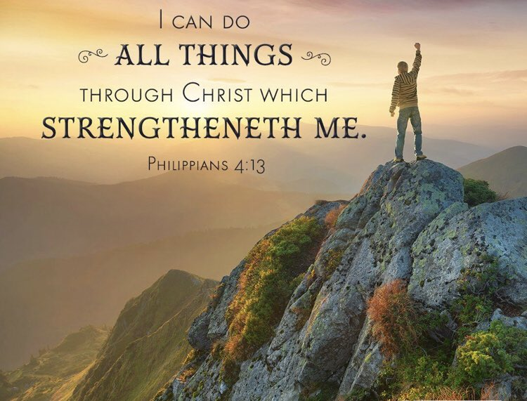 Scripture Of The Day: Philippians 4:13 King James Version (KJV)  13 I can do all things through Christ which strengtheneth me. #JesusIsLord #JesusSaves