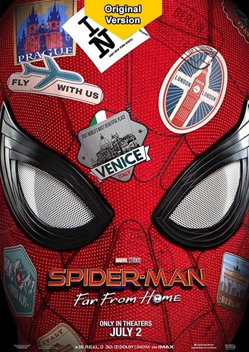 """Due to the high demand, we have booked a second room today """"Spider-Man - Far from home""""  in English original version  TODAY 20:00  Tickets: http://bit.ly/2XSA3IB  #KinoIlmenau #Originalversion"""