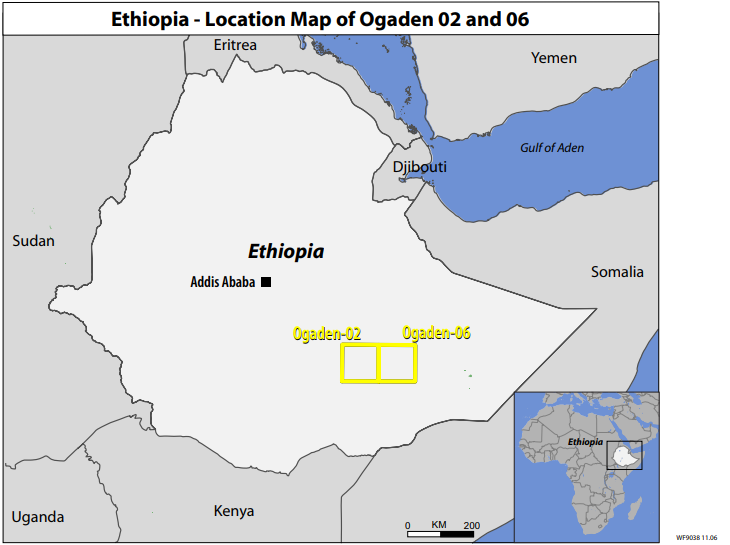 Ogaden Oil Map