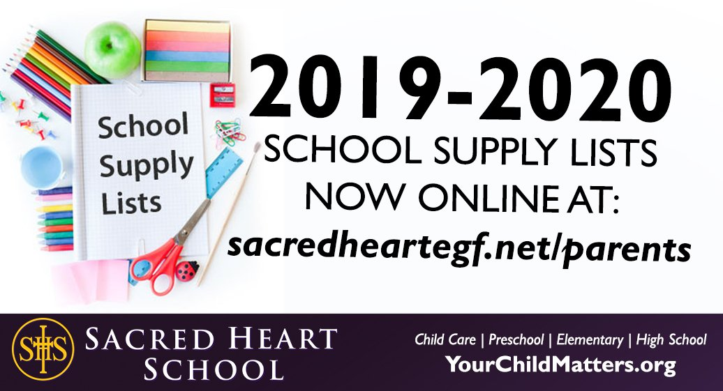 We know it's hard to believe -- but school supply lists for the 2019-2020 school year are now available for students enrolled at SHS in Preschool through grade 12! Find them at http://www.sacredheartegf.net/school/parents/school-supply-list/ …