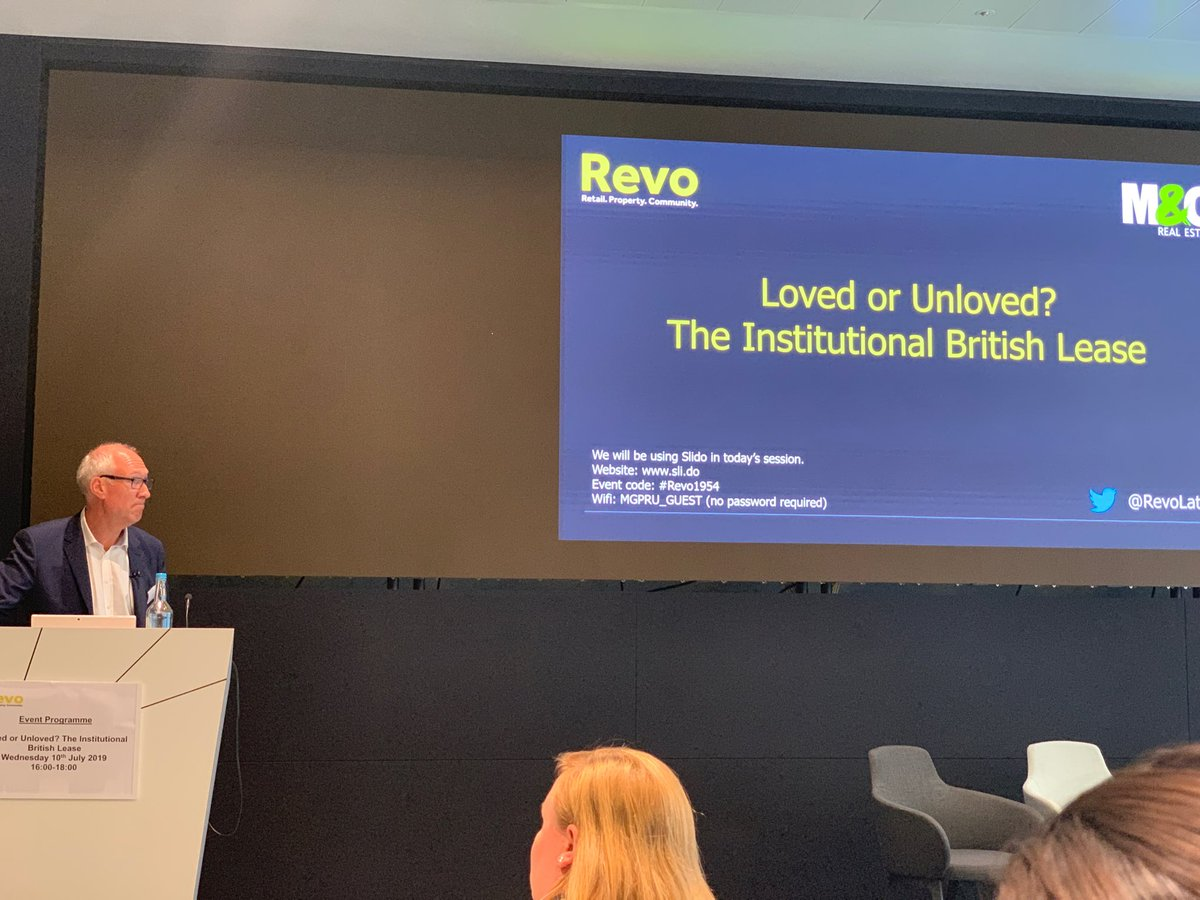 John Duxbury kicks off well timed session on leasing in retail industry hosted by M&G Real Estate and Revo @RevoLatest