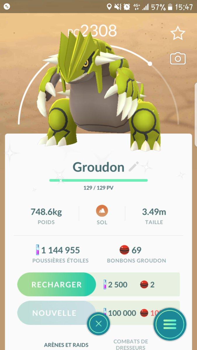 31... 31 putains de raids et le dernier jour je lai enfin mon GrouGrou shiney Je suis trop content ! #PokemonGO