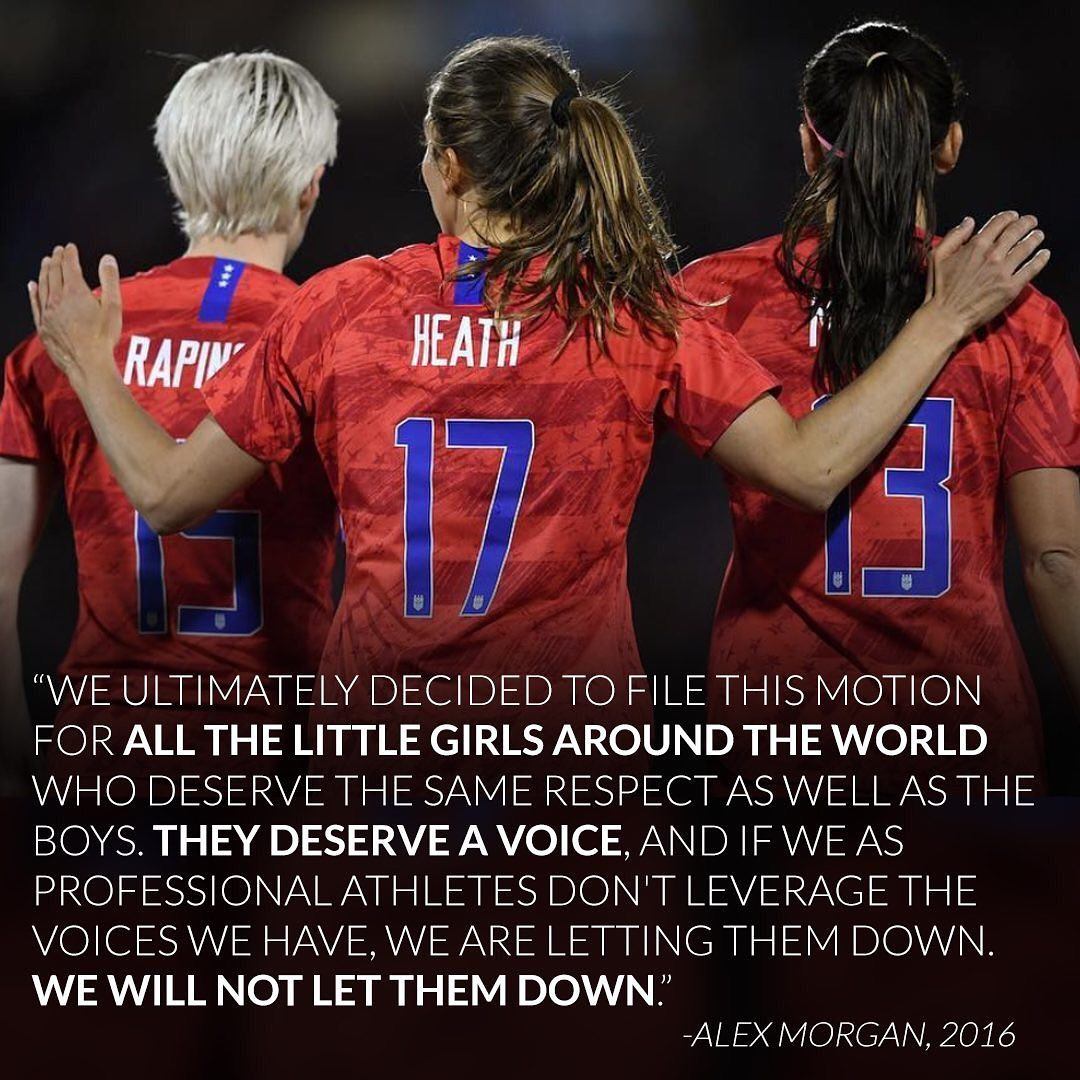 Today @USWNT marches in the #USWNTParade but they don't march alone, they march with all of the young girls they've inspired on their journey.