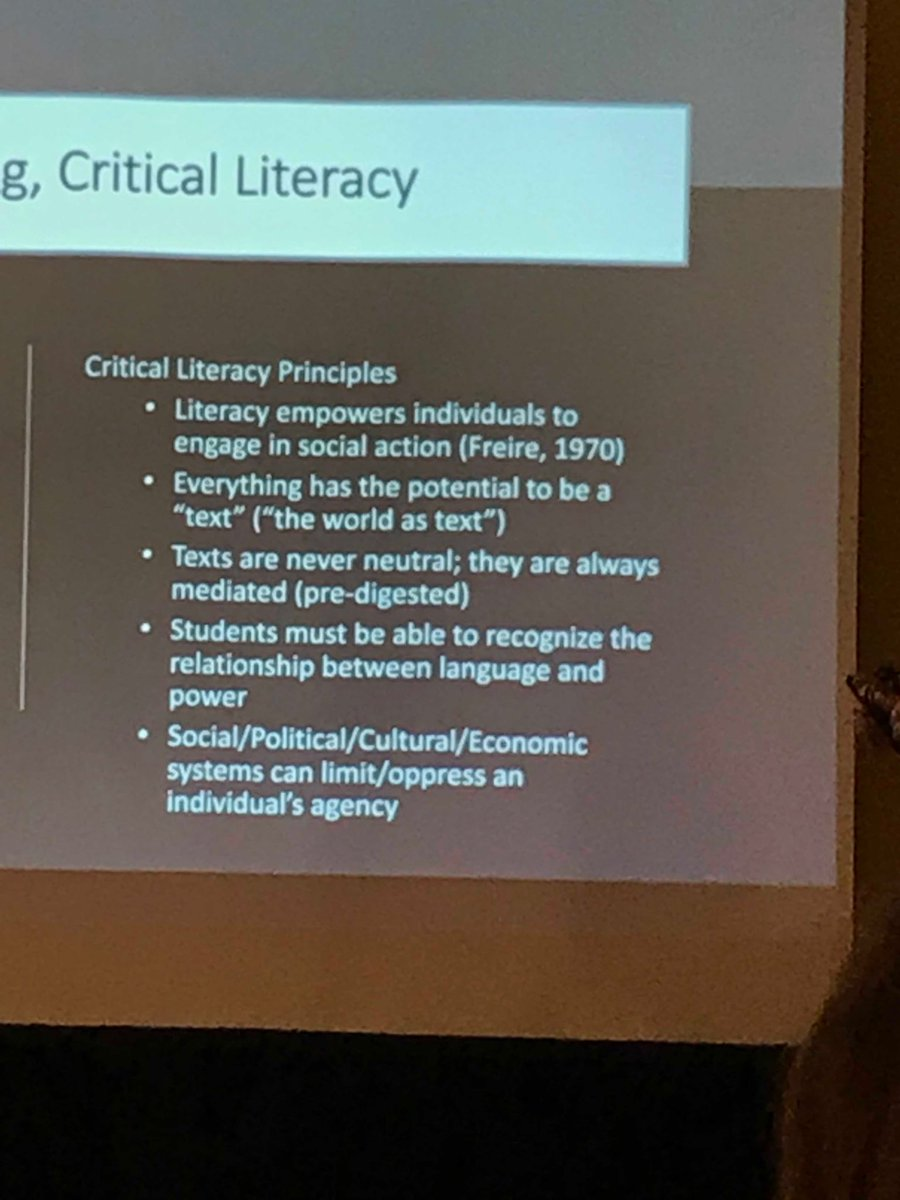 What is critical literacy? It's about empowerment. Students can see the world differently. #l4ga
