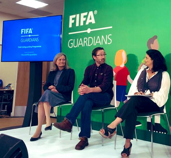 .@GPtoEndViolences Director Susan Bissel said: Creating the space, raising awareness & being vocal about child abuse was the right step to be taken by @FIFAcom @ todays #FIFAGuardians launch.
