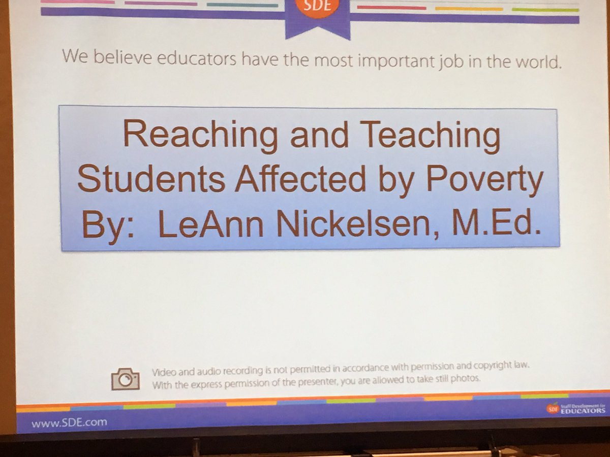 Students affected by poverty. Can't wait to learn more and what I can do. @lnickelsen1 @SDE4Educators #SDEevents #fosterjoyfullearning <br>http://pic.twitter.com/YaRE2F3jz6