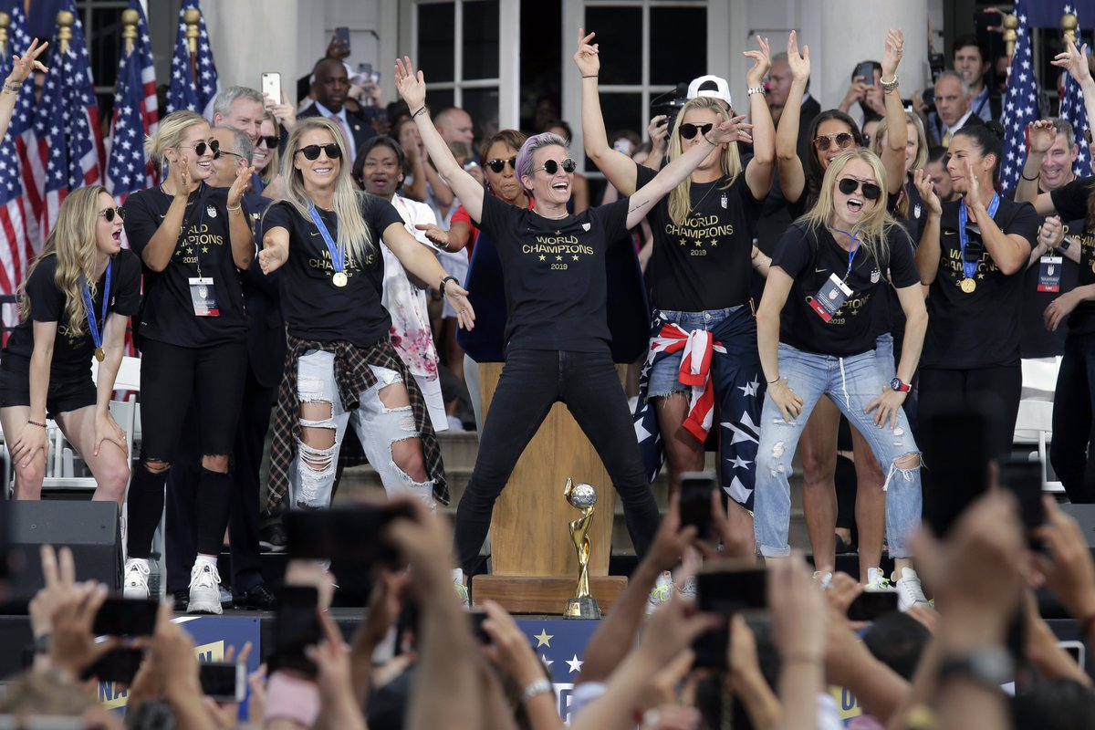 The photos from the #USWNTParade are pure joy.