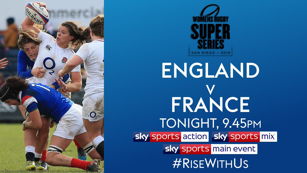 test Twitter Media - 🏴󠁧󠁢󠁥󠁮󠁧󠁿 @EnglandRugby face familiar foes 🇫🇷 @FranceRugby tonight in San Diego as the #SuperSeries2019 continues. Live coverage across @SkySports.  #RedRoses team news 👉 https://t.co/oZDKn86I8B  👇 Broadcast details 👇 https://t.co/VDMe2zZ4h2