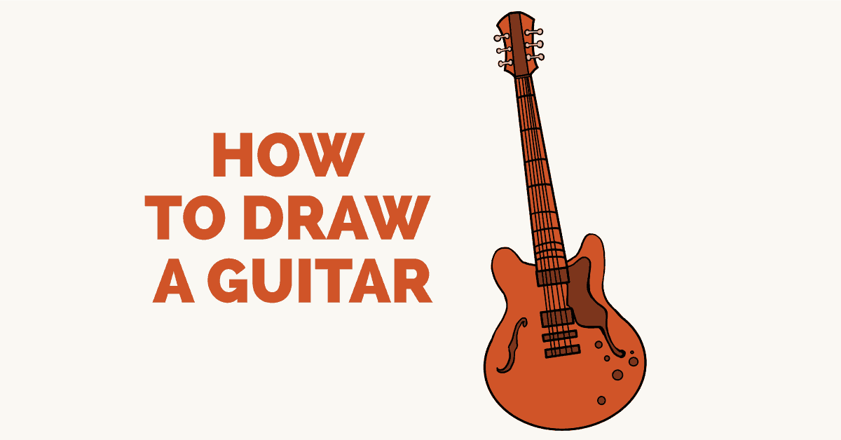 Easy Drawing Guides On Twitter How To Draw An Electric Guitar Easy To Draw Art Project For Kids See The Full Drawing Tutorial On Https T Co Udvti4ng1x Guitar Howtodraw Drawingideas Https T Co Eacf4mquee