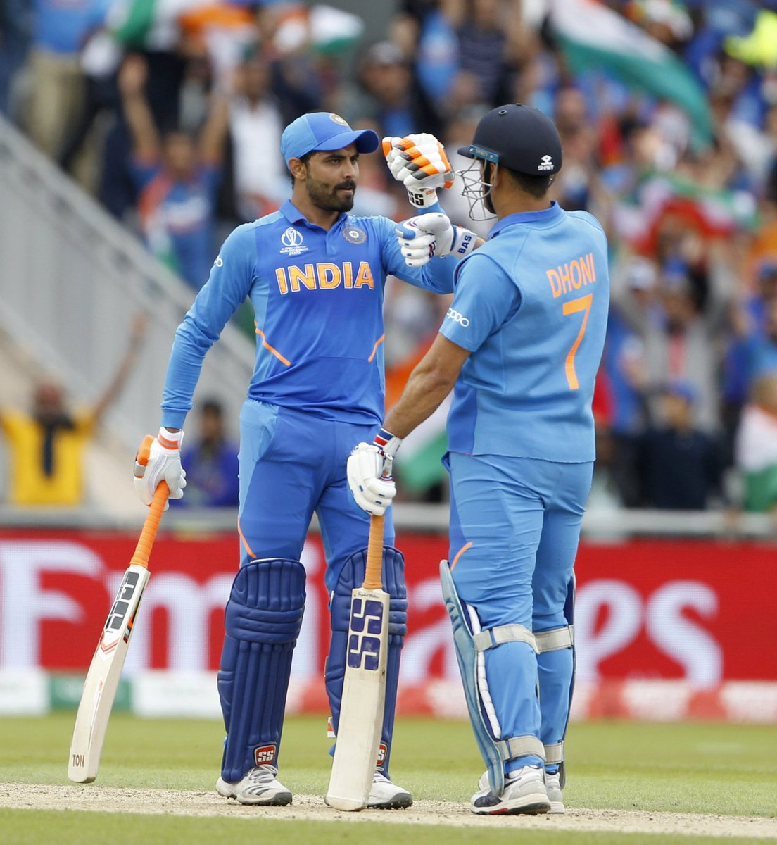 💔 just like every 🇮🇳 supporter. A good fight put up by @imjadeja & @msdhoni but @BLACKCAPS were exceptional today. Congrats to 🇳🇿 on making it to the Finals & all the best for the same. I felt #KaneWilliamson's captaincy & composure played a crucial role in this result. #NZvIND