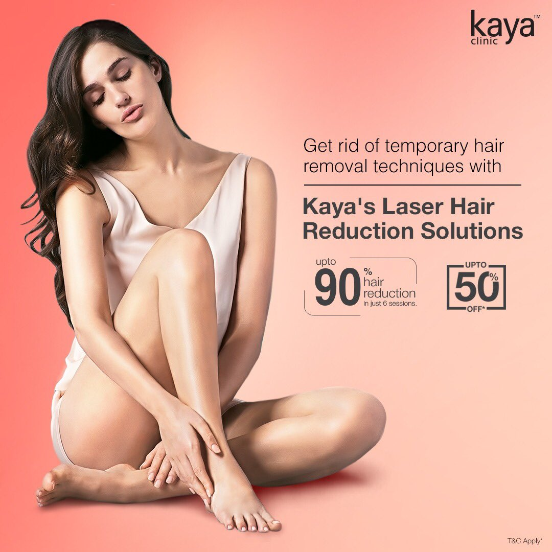 Bid goodbye to unwanted body hair. Switch to Kaya's Laser Hair Reduction and get hair-free & flawless skin! Book your appointment with our experts, now at upto 50% off! T&C*  #Kaya #KayaClinic #KayaIndia #SkinDoctor #Dermatologists #SkinCare #HairCare #SmoothSkin #FlawlessSkin https://t.co/KuCPseNKN1