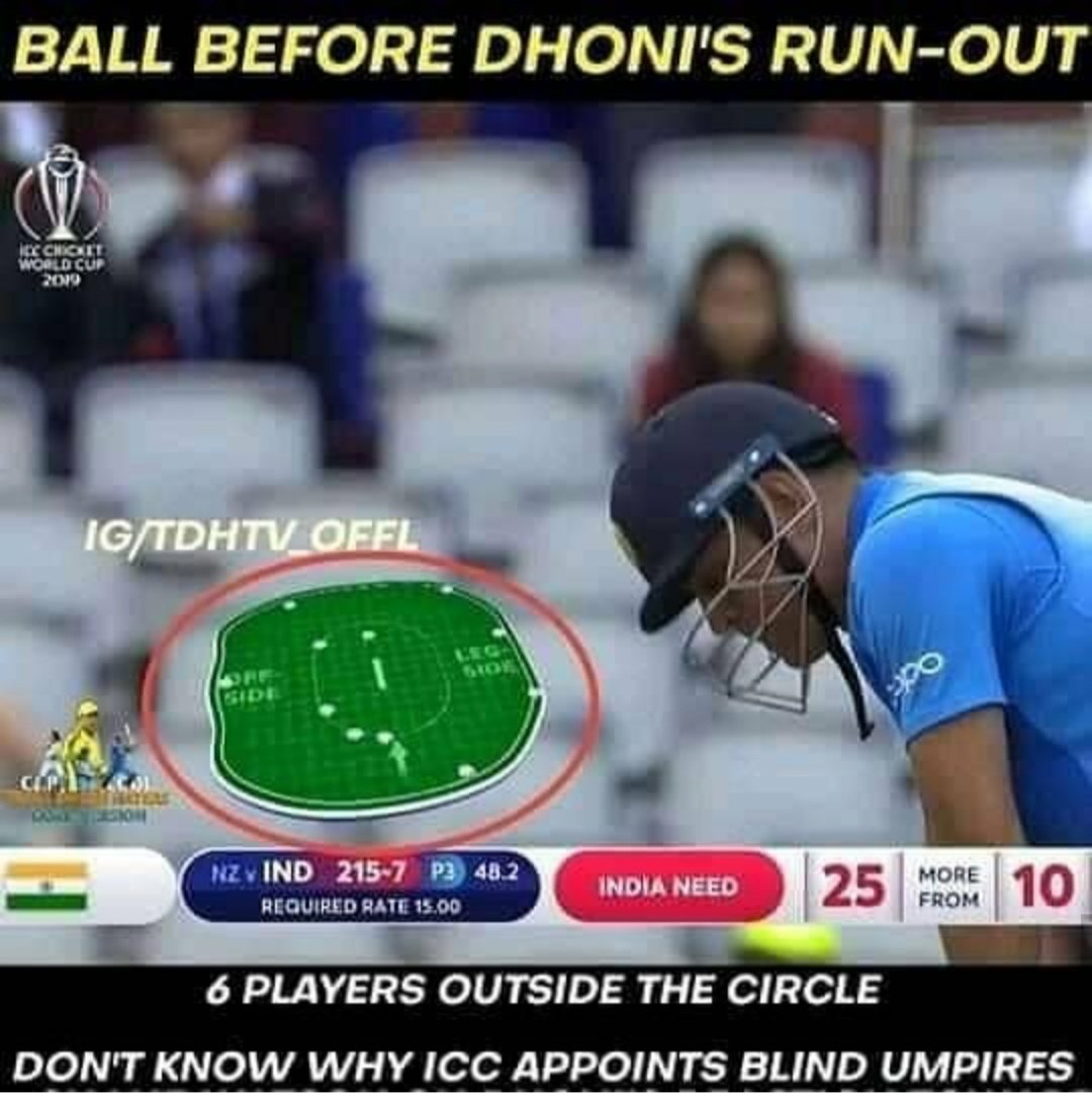Dear @ICC  instead of crying on #Dhoni 's keeping gloves, try to appoint some good umpires for such a big Tournament.. #INDvsNZL @ICC  <br>http://pic.twitter.com/dnAGA87e4j