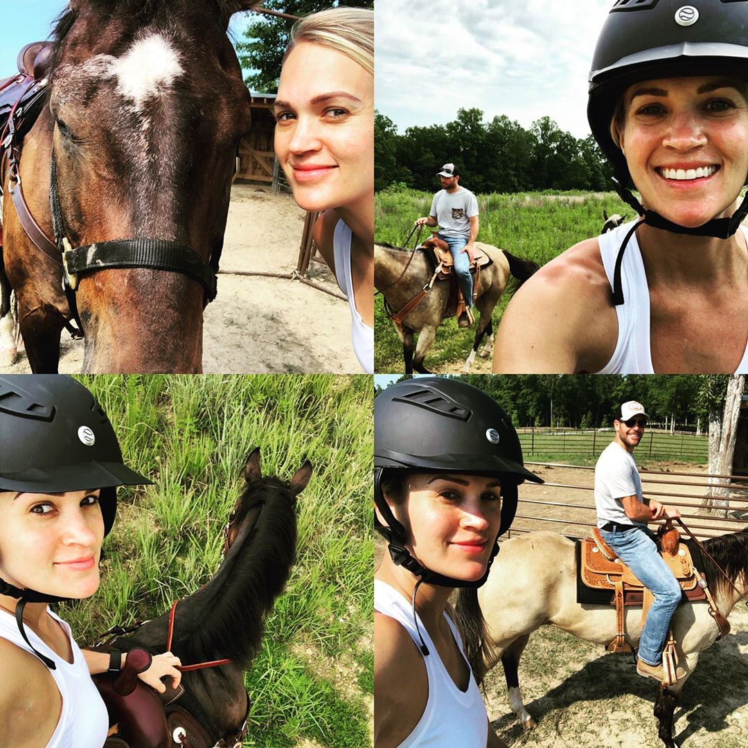 Spent my morning with my cowboy and our horses! 🤠+🐴=😊 #TooManySelfies