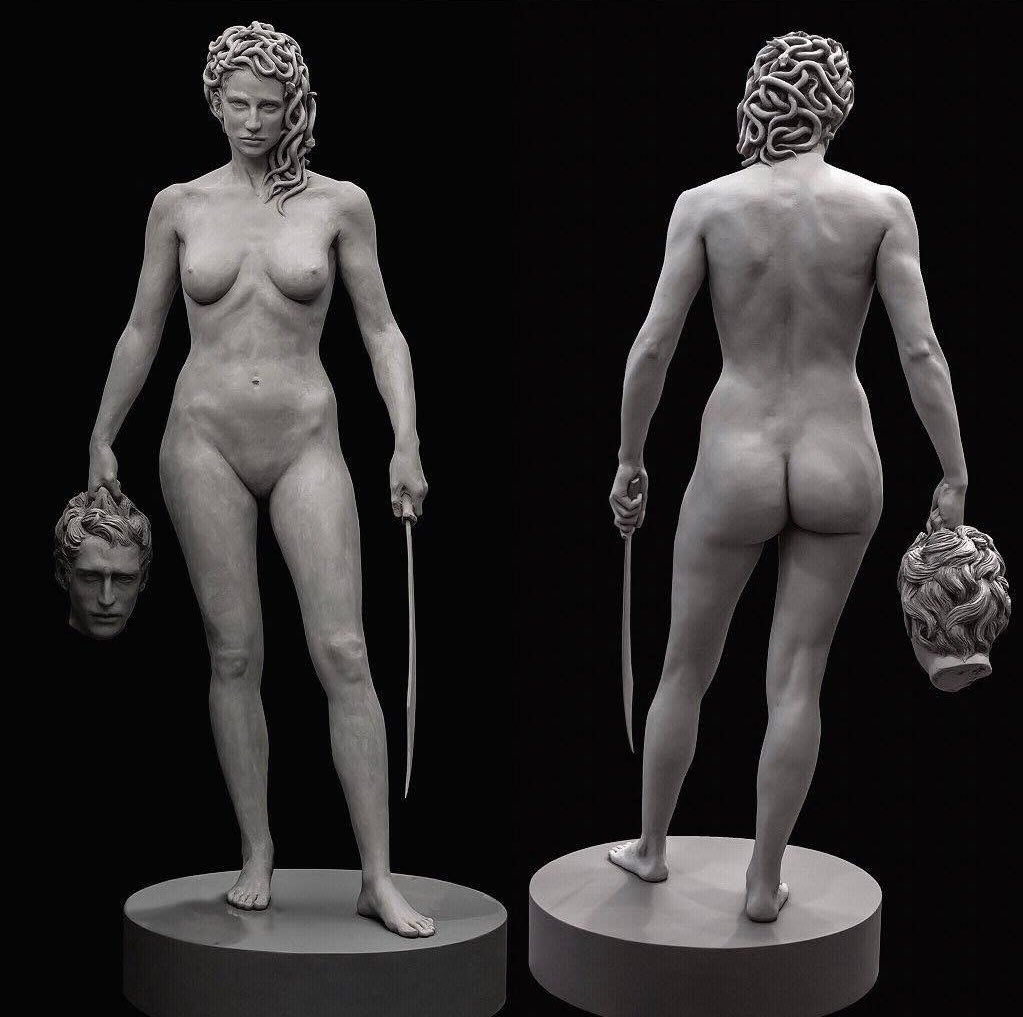 Medusa with the head of Perseus by Luciano Garbati