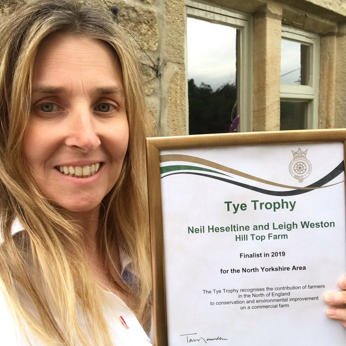 Delighted to have been finalists in the Tye Trophy awards at today's @greatyorkshow which celebrates farming alongside conservation and the environment. Great to be involved, thank you for a great day and congratulations to overall winners @JRfromStrickley, richly deserved.