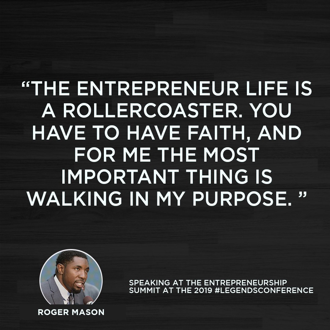 Our entrepreneurship panel featured @MoneyMase, who had these powerful words of wisdom for our members:   #LegendsConference | #NBASummerLeague