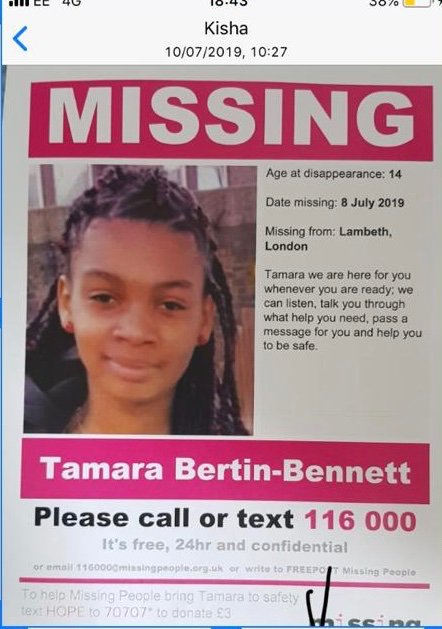 A friend of the family has gone missing. Please RT and share to help find Tamara. Xx