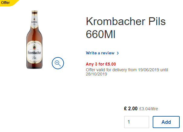 On offer at Tesco - Sandeep 🍻 #Tesco Tweet added by Tesco