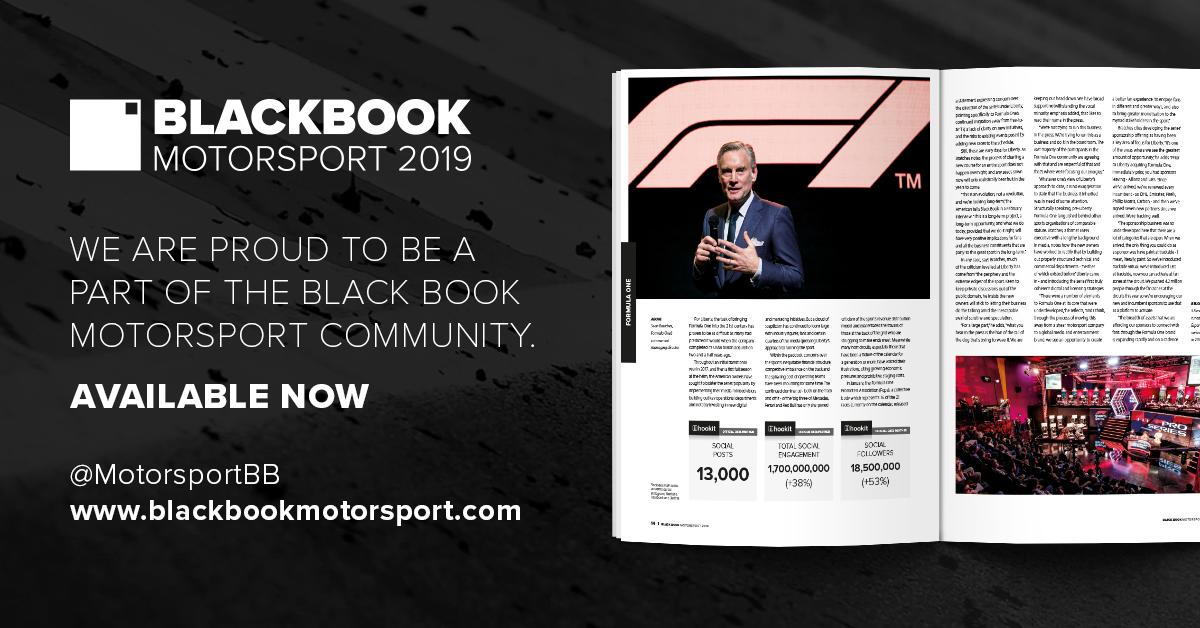 Proud to be the Official Data Partner of the Black Book of Motorsports. Get your copy of the Black Book today to see how the series & F1 teams stack up on social media. #spontech