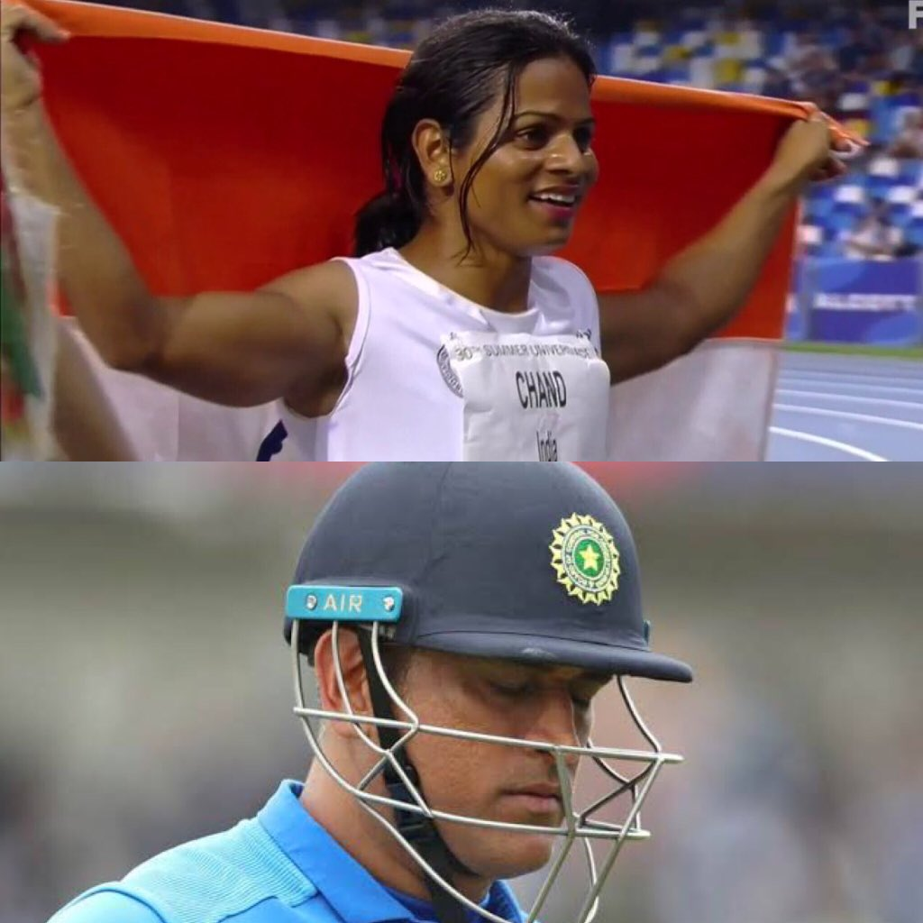 Keep Fighting! Sometimes you win, sometimes you lose! But Keep Fighting! Always! #DuteeChand #Dhoni #INDvsNZL #Proud<br>http://pic.twitter.com/hRK4SJBln6