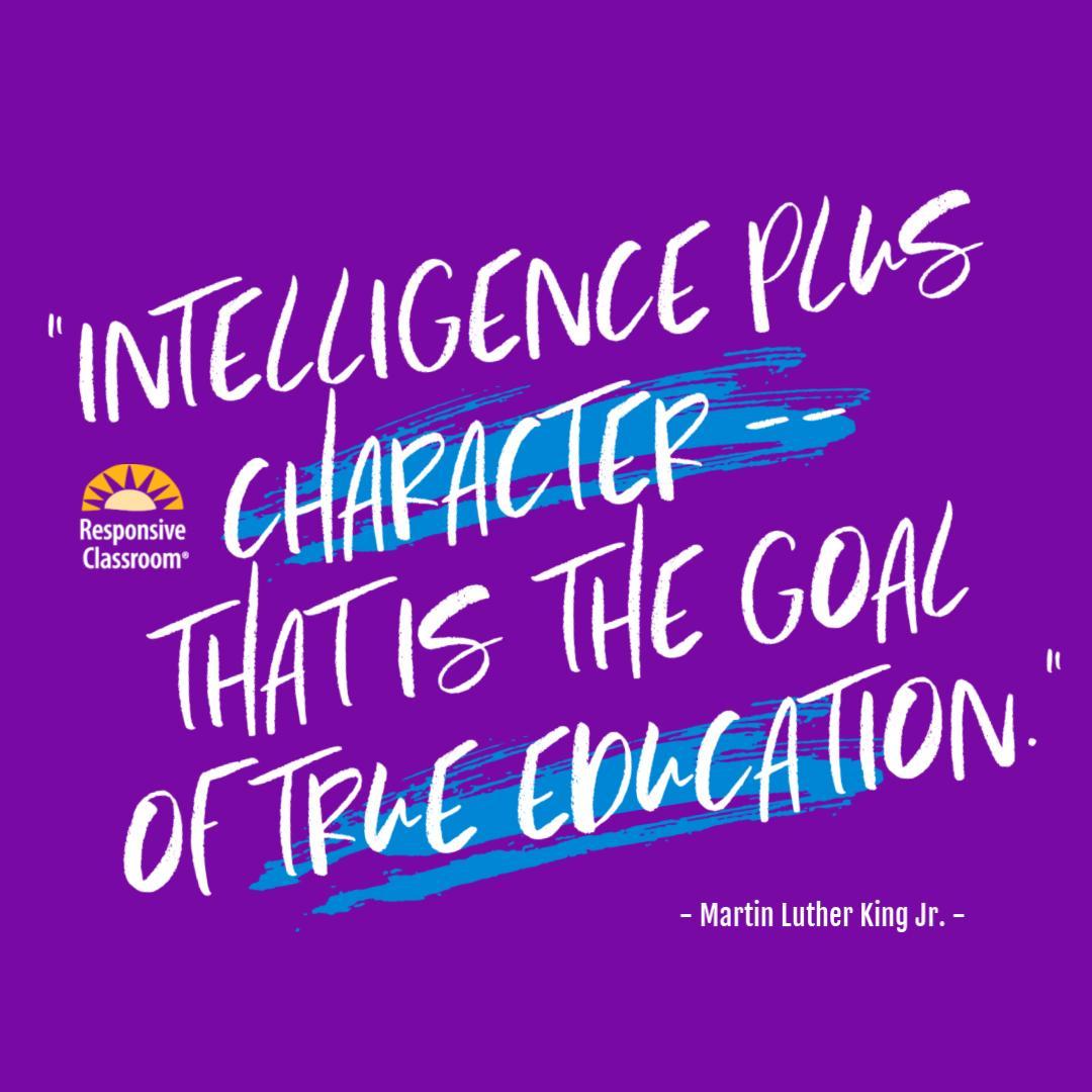 #ResponsiveClassroom #SocialEmotionalLearning #SEL #trueeducation #MLKjr