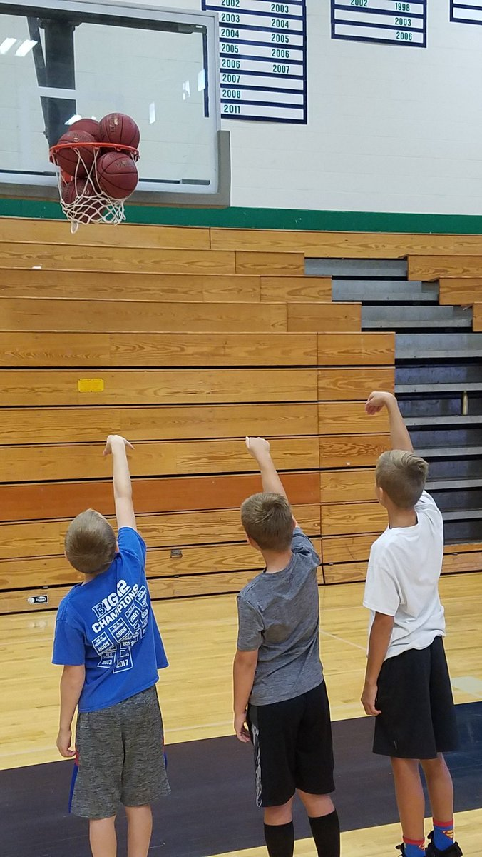 Our 2nd, and final, kid's camp has been amazing. Today... improve shooting.