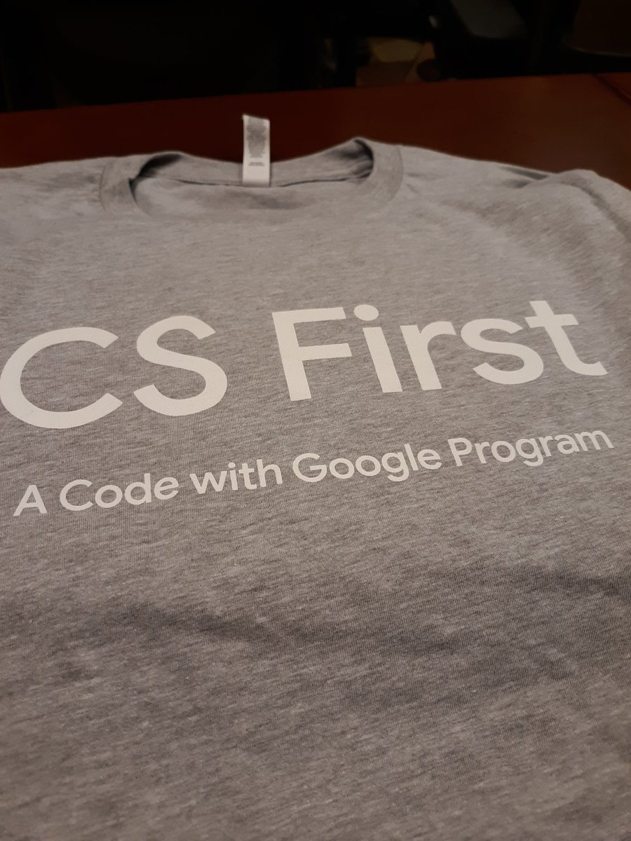 When Google #CSFirst ups the #swag game at #CSTA2019 ... (Hi my name is Alicia and I am a #swagaholic)
