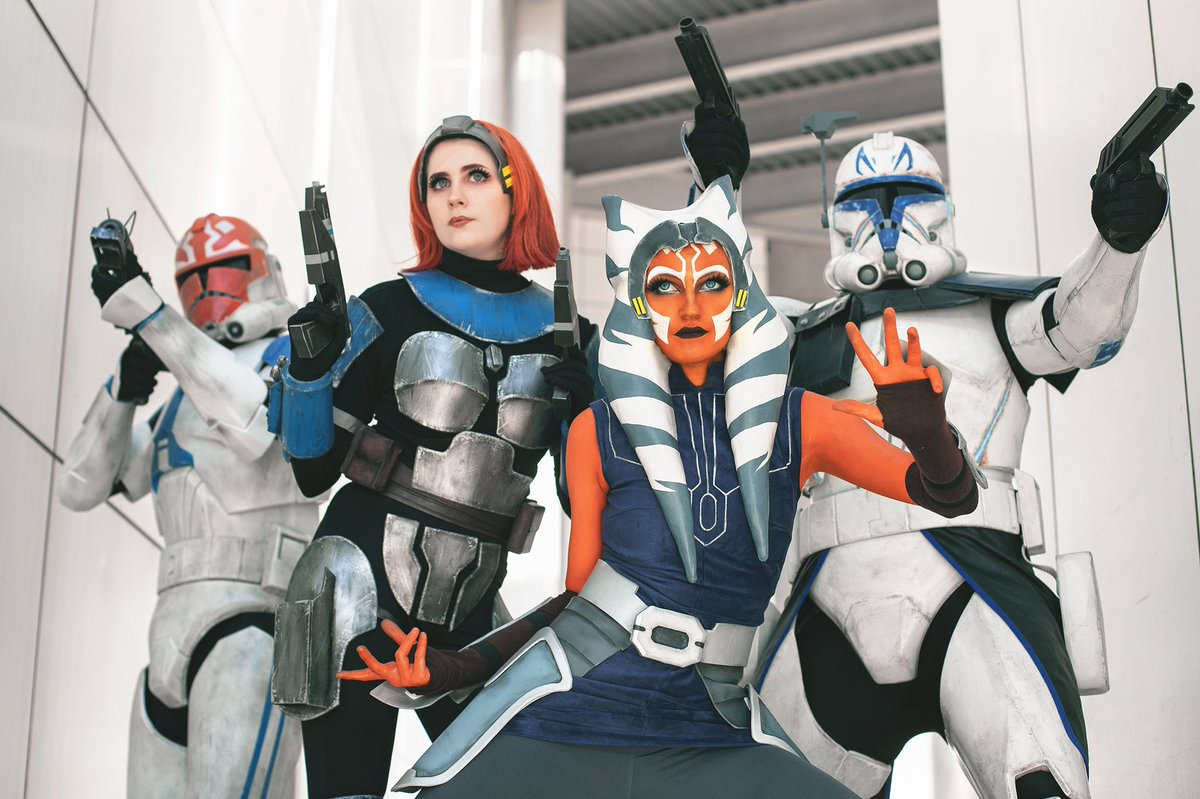 Our squad is ready for the final season of @TheCloneWars! #CloneWarsSaved #AhsokaTano @starwars @dave_filoni @Tcann13 @HerUniverse @deebradleybaker<br>http://pic.twitter.com/wccRLv8YoK