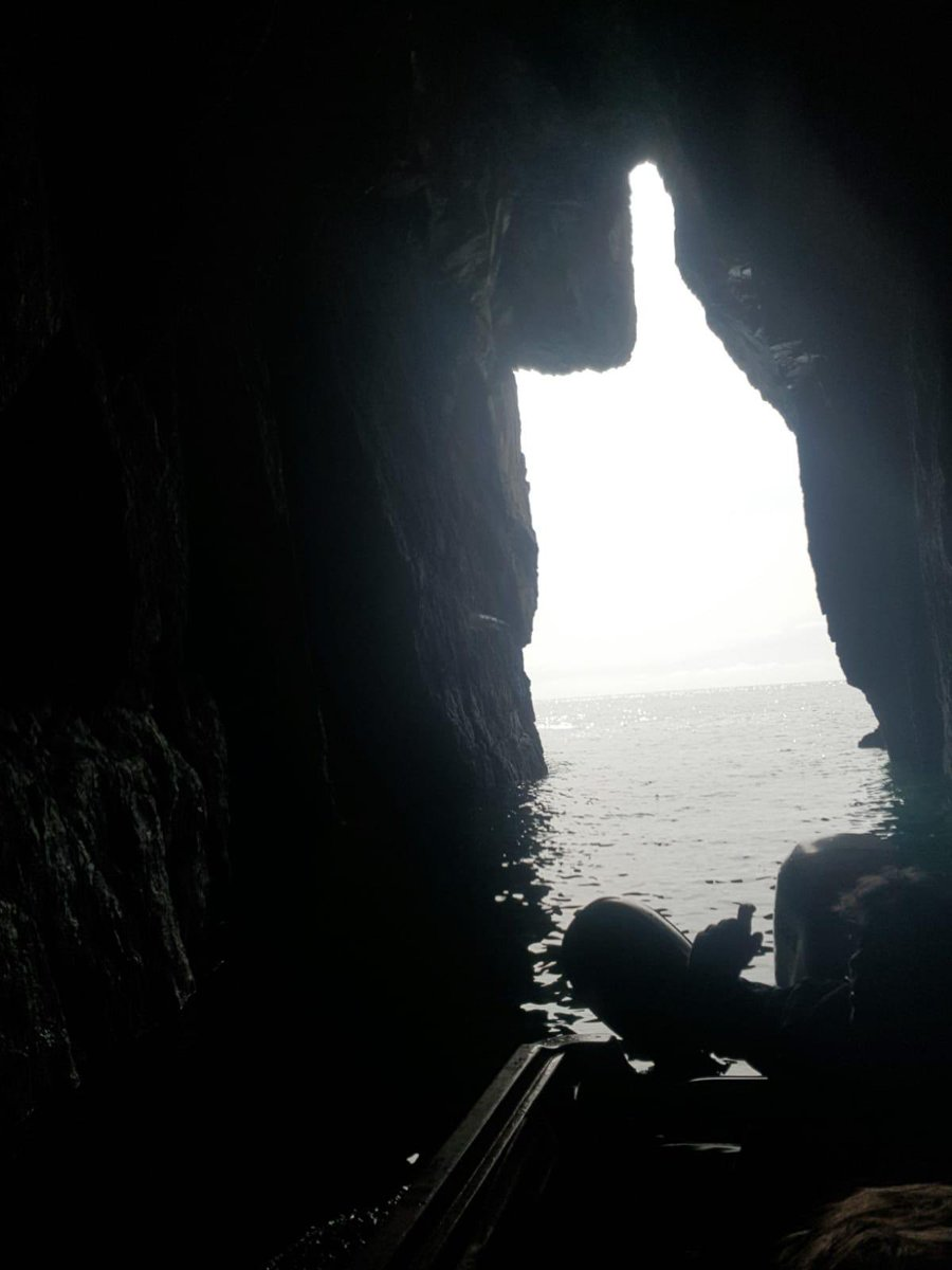 Looking out from a sea cave at #northstack #anglesey #holyisland https://t.co/pOciQjnFtO