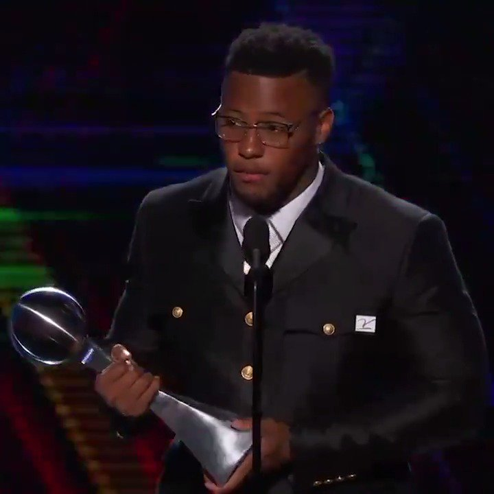 NFL Offensive ROY, Pro Bowler and now the #ESPYS Breakthrough Player of the Year!It's been a good year for Saquon Barkley.(📍@CENTURY21)
