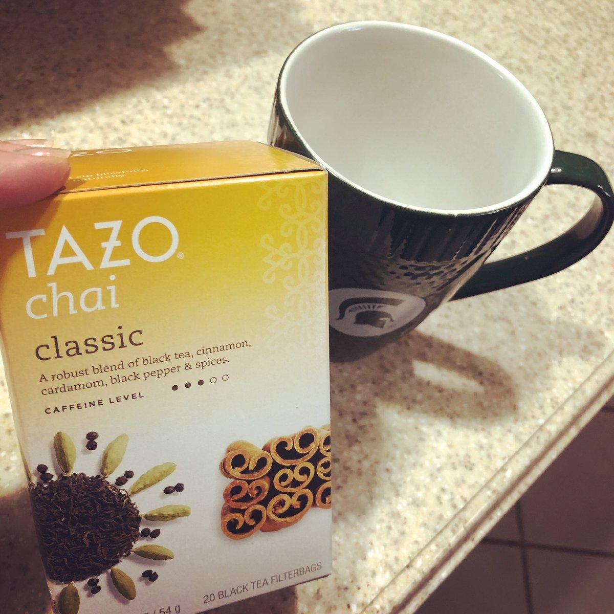 Tea time on a rainy night at home ☕️ #rest #tazotea #myfave #teatime