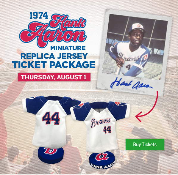 67d92d922 The Braves are giving away a miniature Hank Aaron jersey ...