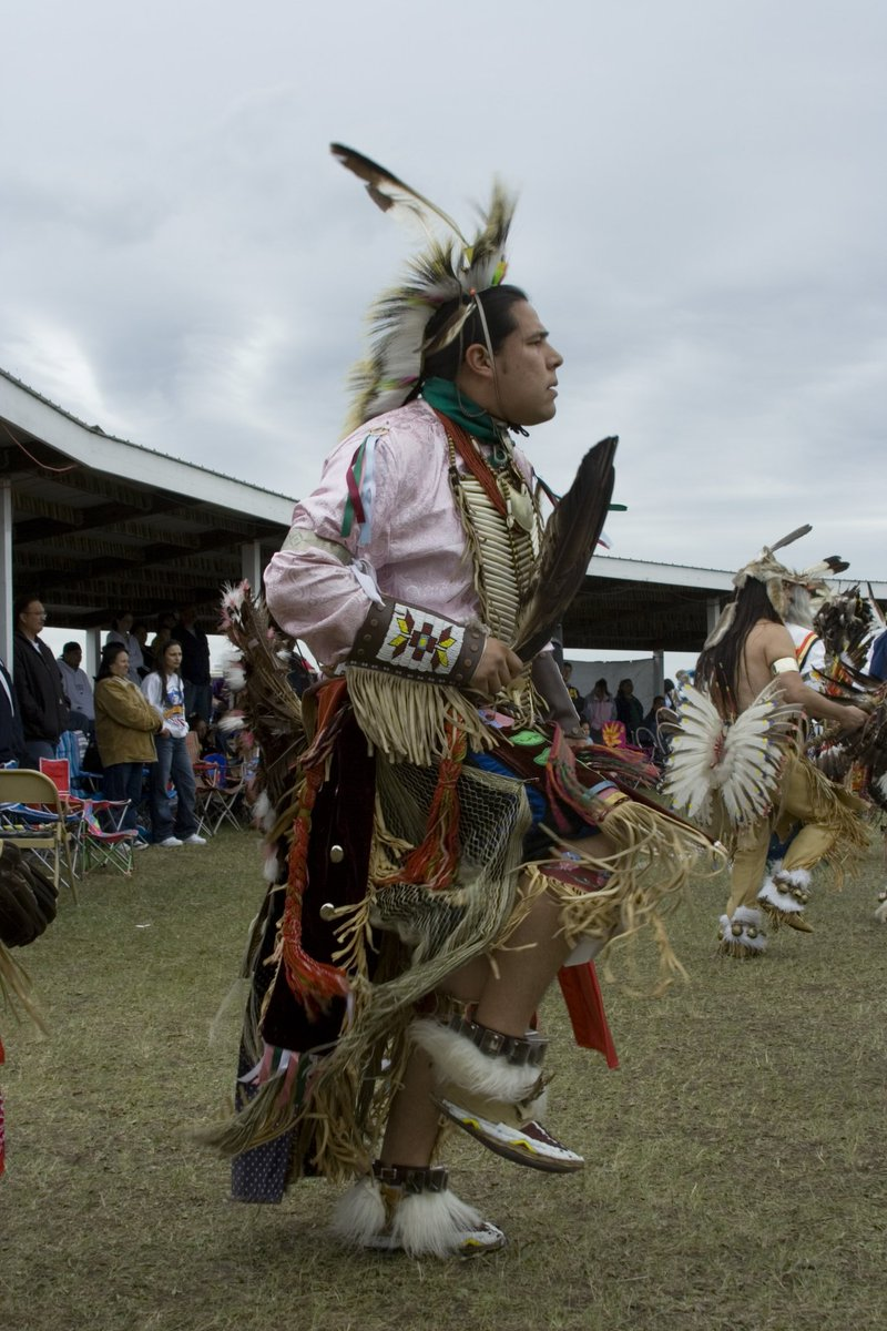 Someone from my nation's tribal center just sent this old photo of me dancing at our powwow!