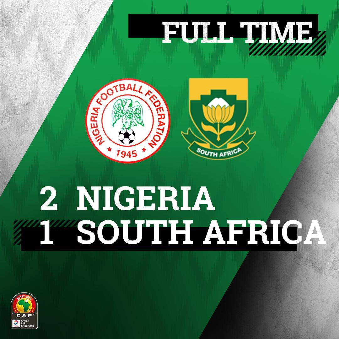 We are in the semi-finals! #SoarSuperEagles #Team9jaStrong #TotalAFCON2019