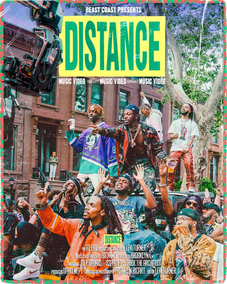 DISTANCE MUSIC VIDEO DROPS TOMORROW ON THE PRO ERA YOUTUBE CHANNEL @ 12PM! ARE YOU READY?