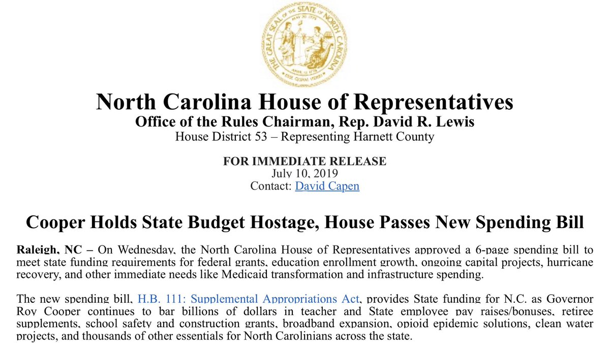 NC House Republicans (@NCHouseGOP) | Twitter
