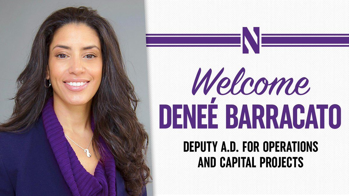 Wildcats, please help us give a BIG @NorthwesternU welcome to new Deputy A.D. Deneé Barracato! 😼 bit.ly/BarracatoNU #GoCats