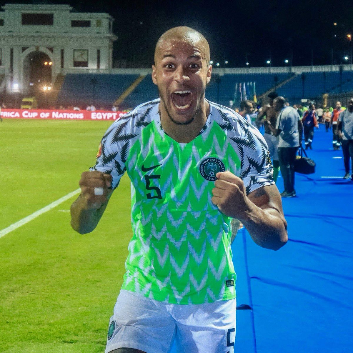 🙌 THAT SEMI-FINALS FEELING! 🤩 #SoarSuperEagles  #Team9jaStrong  #TotalAFCON2019