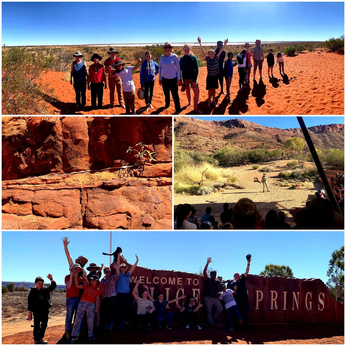 Our Adventure Club Trip to the Red Centre has been extremely enjoyable.  Thus far participants have seen Alice Springs, caught a Birds of Prey show, explored the gorgeous Kings Canyon & the red sand at Fooluru.