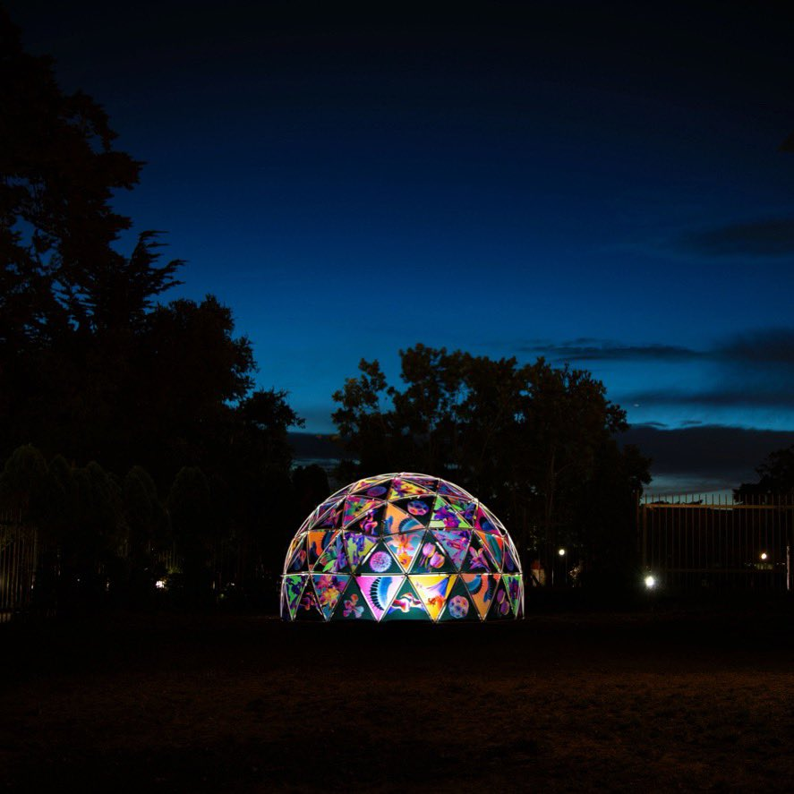FLORA DOME is an 8 foot tall geodesic dome comprised of 102 unique photographic panels featuring images of tropical plant life. This install is the first part of my ongoing artist residency with @CASNightLife & can be viewed at tomorrow's first Nightlife LIVE event!!