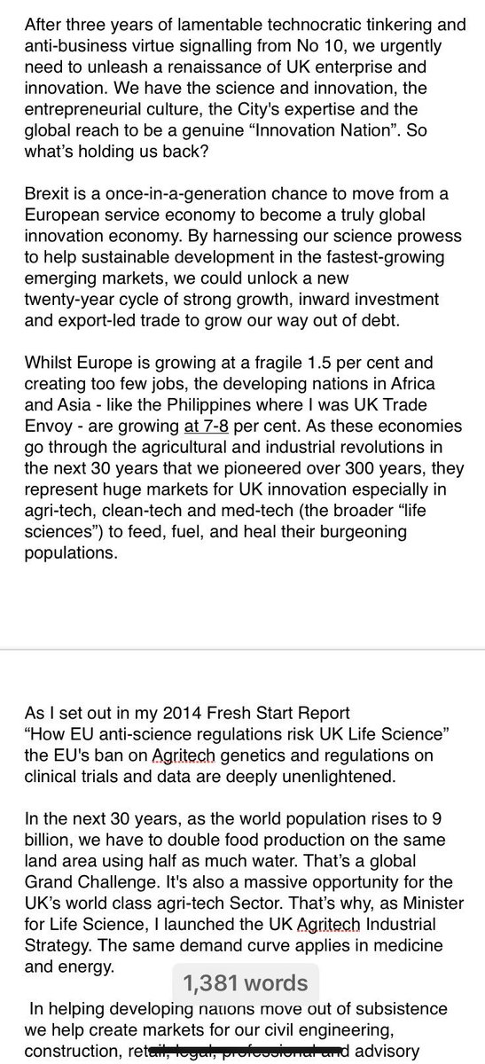 Brexit demands a much bolder economic vision for Britain.  Today in @CityAM I've set out a bold policy programme to unleash UK Science 🧬 for #GlobalBritain as an #InnovationNation. Boris gets it. He did it as Mayor & he's assured me he will implement it:  https://www.cityam.com/boris-johnson-can-deliver-a-bold-economic-vision…