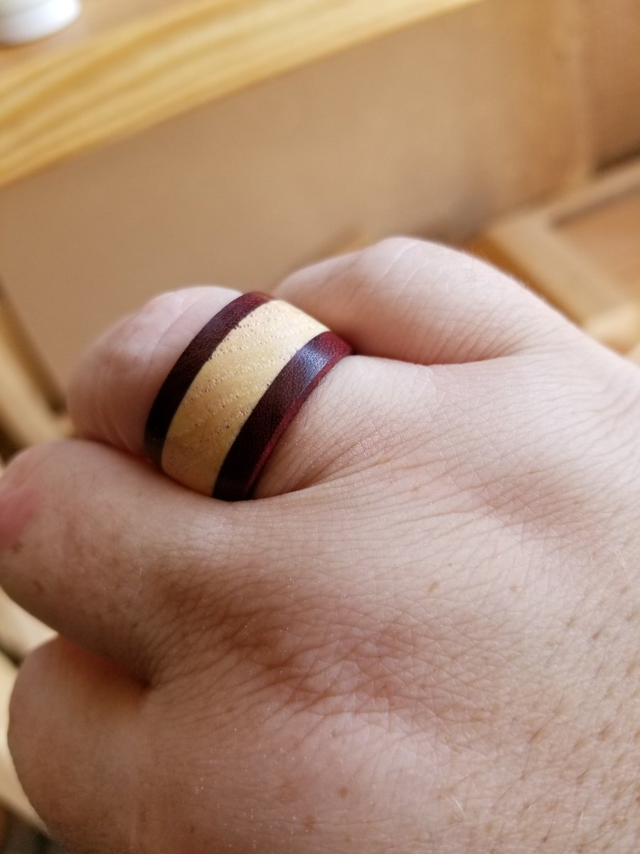 Purpleheart & sycamore ring, made my yours truly :D