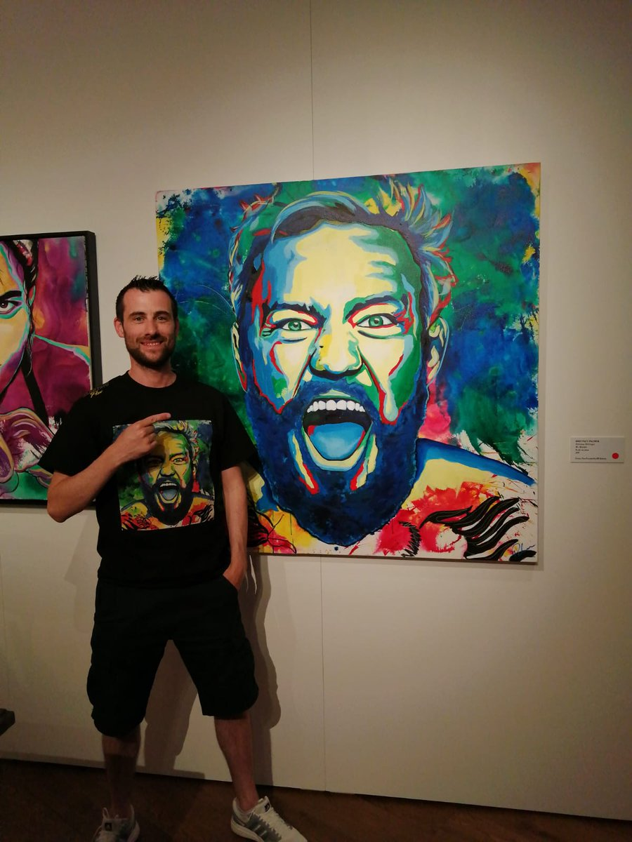 @TheNotoriousMMA Some very cool artwork from brittney palmer. #vegas