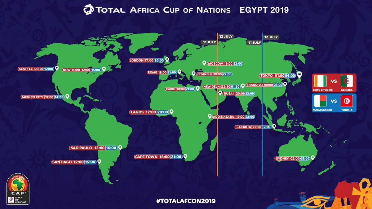 From where will you be watching the last two quarter-final games of #TotalAFCON2019?   #CIVALG | #MADTUN <br>http://pic.twitter.com/kYDEPGeJF3