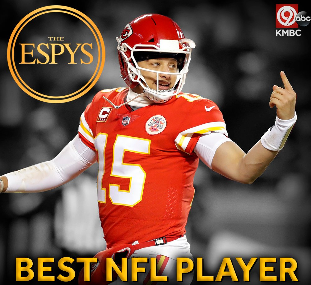 RT @kmbc: YES! @PatrickMahomes wins BEST NFL PLAYER at the @ESPYS! Congratulations! #ChiefsKingdom https://t.co/p2xclVppqp