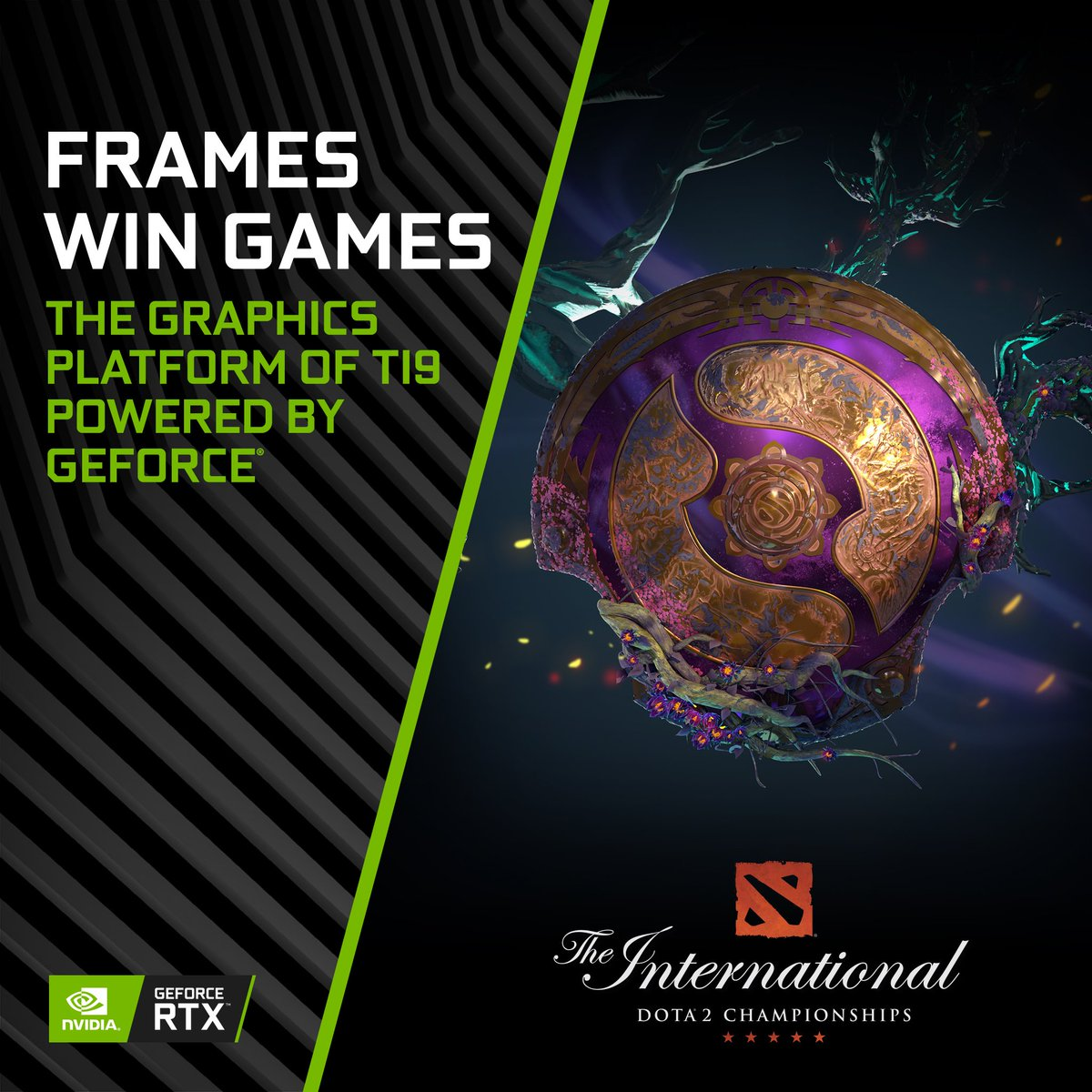 We're proud to announce that GeForce is once again powering the DOTA 2 International.   When the world's best teams compete in Shanghai this year, they will compete on RTX 2080 GPUs and 240 Hz G-Sync Monitors. #FramesWinGames  Learn more →  https:// blogs.nvidia.com/blog/2019/07/0 5/nvidia-geforce-the-international-shanghai/   … <br>http://pic.twitter.com/v7R7DnNeXa