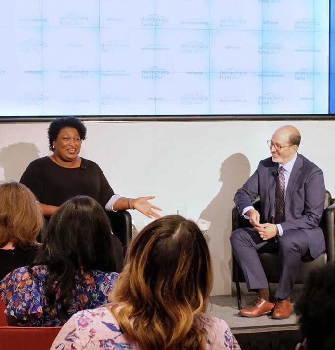We were honored to have @staceyabrams join @joegoldman tonight in conversation around #votingrights and our democracy. What an amazing way to celebrate our 5th anniversary! #DFturns5