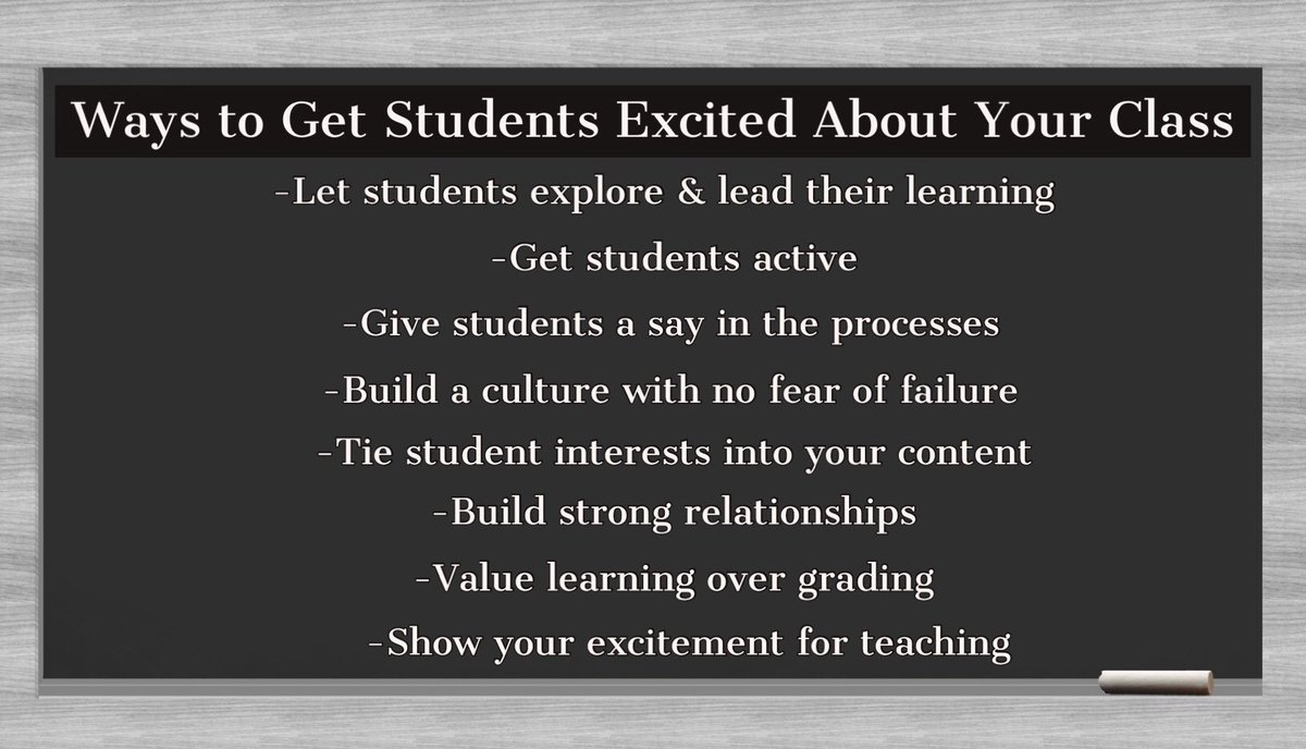 What do you do to get kids excited about your class? #edchat