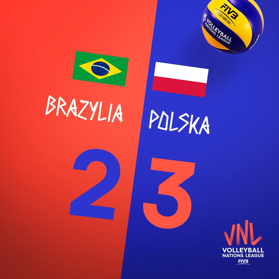 Jak ich nie uwielbiać?! 🤩 Reprezentacja 🇵🇱Polski pokonała 3:2 (25:23, 23:25, 25:21, 21:25, 15:9) 🇧🇷Brazylię w pierwszym meczu Final Six #VNL2019. Canarinhos przyjechali w najmocniejszym składzie - my dalej przeprowadzamy testy 😁 Wielkie BRAWA!!! 👏